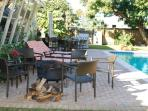 Comfy lounge chairs will make any worries melt away... Grills are also available for you to use!