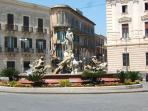 piazza Archimede and Diana Fountain - 100m away