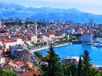 The historic city of Split is Croatia's second largest city (1h 15 min. on motorway )