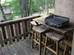 Deck with All Clad Grill