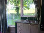 Kitchen with wonderful rural views to the Galtee Mountains