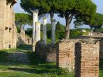 Ostia Antica 2 stops on the metro. Better than Pompei and your back at the beach by lunch!