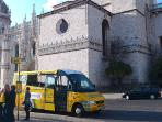 Tour buses stop in front of the monastery. There is also a Tourism Office nearby