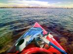 Or take the complimentary kayaks and snorkel equipment and explore the bay and nearby reefs!