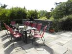 Sun terrace with BBQ looking west