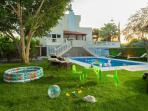 Plastic pool and play ground for children