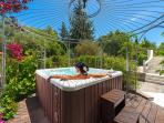 Hot tub Ideal for a romantic and relaxing bubble bath  feeling  the benefits of hydrotherapy
