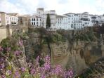 View of Ronda's hanging houses over the gorge