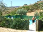 Swimming Pool is fenced and gated