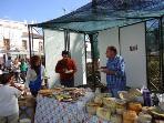 Artisan cheese stall in El Burgo