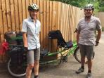 Two of our guests travelling by tandem from Australia to France!