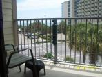 Balcony overlooking Ocean and The Strip