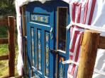 Your new front door. Handmade and painted in Mongolia.