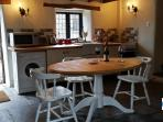 The shared kitchen is in the old farmhouse a 2 minute walk away.