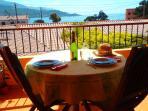 Terrasse vue mer location Corse