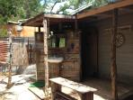 Another view of the outdoor bathroom area