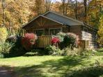 Creekside Cabin with bubbling hot tub, WIFI, Fireplace & Pets Welcome!