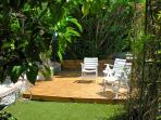 garden with deck area