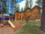 Backyard with play area