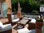 terrace with furniture