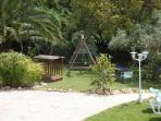 Garden and space for children to play