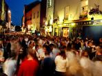 Center of Galway Nightlife. The Latin quarter