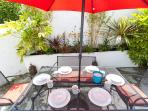 Courtyard garden is perfect for al-fresco dining
