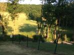 2 acres of private grounds with children's area