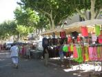Capestang market on Wednesdays and Sundays, 9 - noon