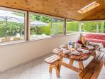 Full width sunroom