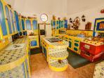 A large, spacious kitchen.