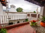 Right next to the upstairs Master bedroom you have this beautiful terrace with volcano views!