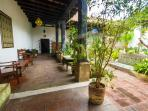 Back downstairs, this is your beautiful, large central courtyard.