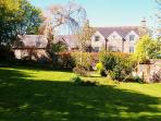 The Old Rectory And Retreat Cottage from the 1 acre Garden