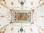 You will be able to fall asleep while admiring the precious fresco, painted on the ceiling by an ano