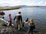 Enjoy lake Thingvellir