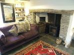 huge inglenook and woodburner