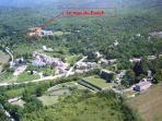 Vue aérienne du Mas du Puech