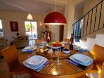 The dining area becomes your own restaurant table as the evening draws near!