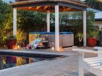 Heated outdoor spa