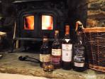 Whisky tasting by the log burner in the lounge.  A local guy can run these in the croft for you.