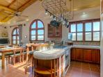 Kitchen with View of Working Cow Ranch