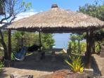Lower picnic area with hammocks