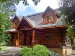 Welcome to Moon Over Moose • Luxury Water Front Log Home • Adirondack Mountains • Old Forge • NY