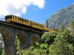 Yellow Train, the tourist train that takes you through amazing mountain passes and superb scenery