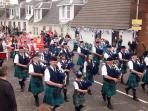 Pipe band at Strathaven Gala Day - a great day out