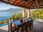 Alfesco balcony dining with amazing views