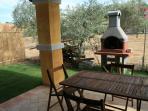Veranda con barbecue