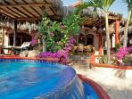 Beach front Mexican villa