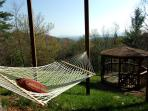 The gazebo and hammock are great for reading or catching a nap.